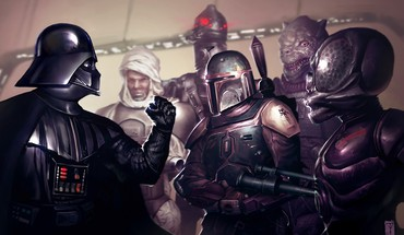 Darth vader the bounty hunters HD wallpaper