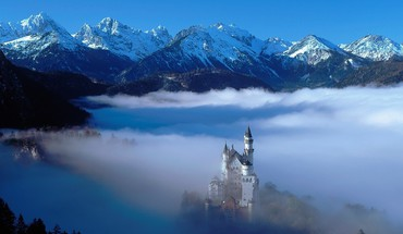 Alpen Schloss  HD wallpaper