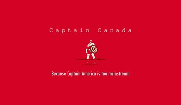Funny heroes typography canada hipster red background HD wallpaper