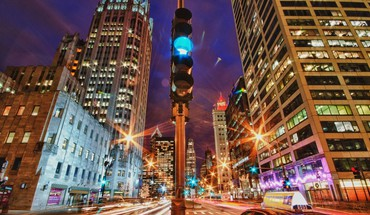 City lights in motion hdr HD wallpaper