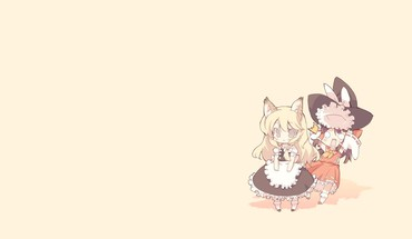 Hakurei reimu kirisame marisa miko touhou animal ears HD wallpaper