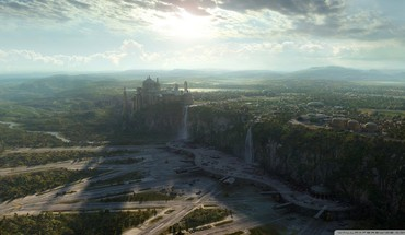 Naboo cities fantasy art future HD wallpaper