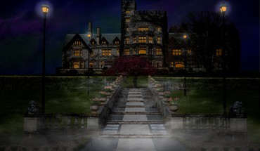 Spooky hatley castle HD wallpaper
