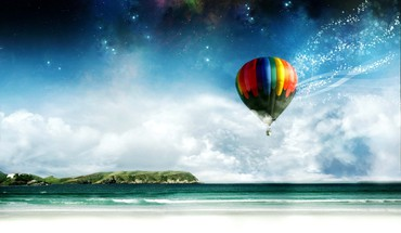 Beaches hot air balloons HD wallpaper