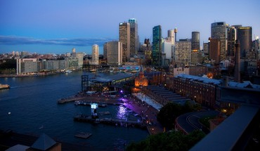 Australia sydney twilight architecture bay HD wallpaper