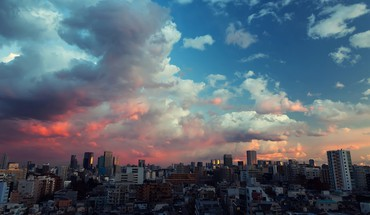 Sunset japan clouds tokyo cityscapes skies HD wallpaper