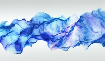 Abstract blue digital art waves HD wallpaper