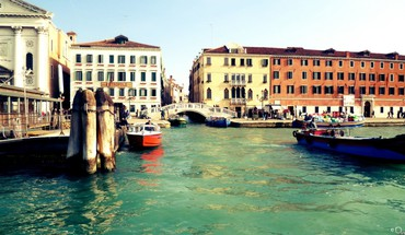 Europe venice boats buildings cityscapes HD wallpaper