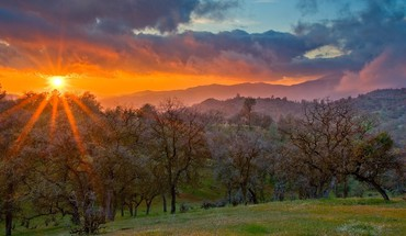 California sun landscapes spring HD wallpaper