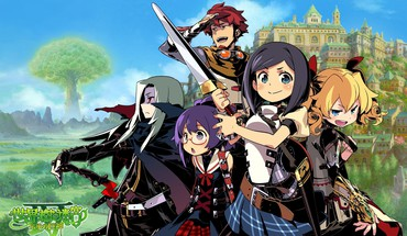 Meganekko swords etrian odyssey sekaiju no meikyuu HD wallpaper