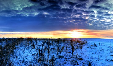 Great winter sunset HD wallpaper