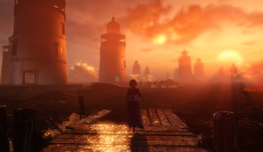 Bioshock infinite artwork digital art fantasy lone woman HD wallpaper