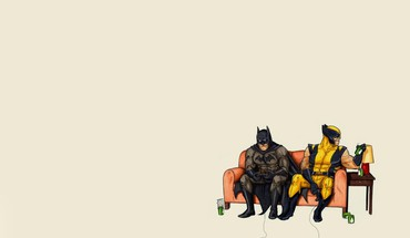 Batman dc comics wolverine marvel HD wallpaper