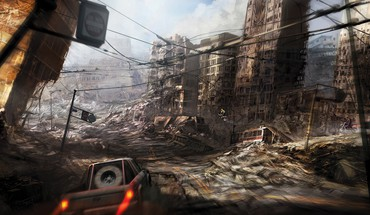 Ruins cityscapes post-apocalyptic artwork HD wallpaper
