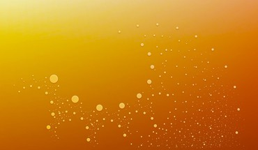 Bubbles minimalistic orange HD wallpaper