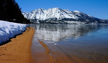 Nature beach lake tahoe widescreen HD wallpaper