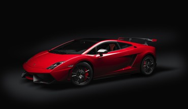 Lamborghini black background cars red vehicles HD wallpaper