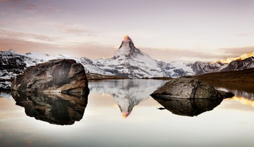 Nature snow lakes alps matterhorn HD wallpaper
