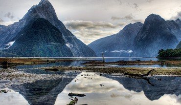 National park new zealand clouds fjord forests HD wallpaper