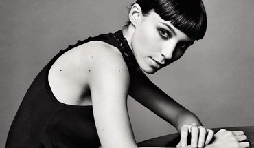 Black and white actress rooney mara HD wallpaper