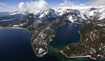 California emerald lake tahoe aerial bay HD wallpaper