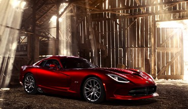 Dodge red cars static viper HD wallpaper