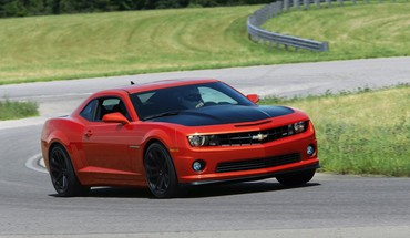 Cars red sports race tracks chevrolet camaro 1le HD wallpaper