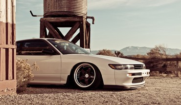 Domestic market nissan silvia s13 cars white HD wallpaper