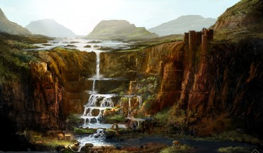 Landscapes fantasy art artwork HD wallpaper