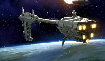 Spaceships science fiction artwork nebulon b frigate HD wallpaper