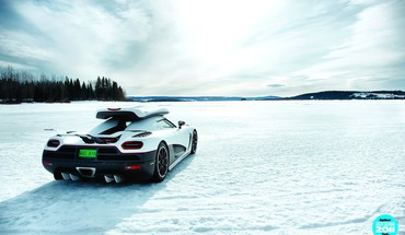"Sniego automobiliams Top Gear ""Koenigsegg  HD wallpaper"