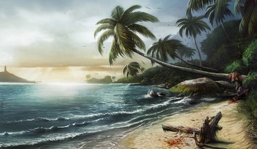 Playstation 3 artwork beach girls video games HD wallpaper
