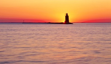 Lighthouses parks sunset HD wallpaper