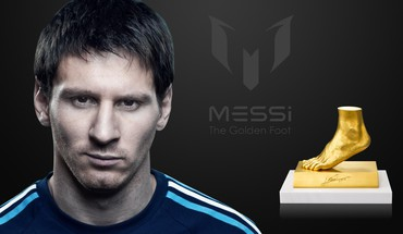Awards fc barcelona golden foot lionel messi HD wallpaper