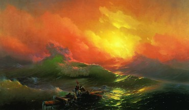 Waves boats ivan aivazovsky the ninth wave HD wallpaper