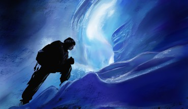 Artwork ice cave HD wallpaper