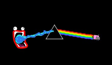 Nyan cat pink floyd shoop da whoop HD wallpaper