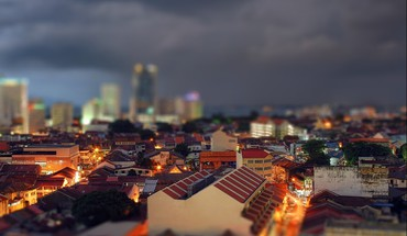 Cityscapes tilt-shift HD wallpaper