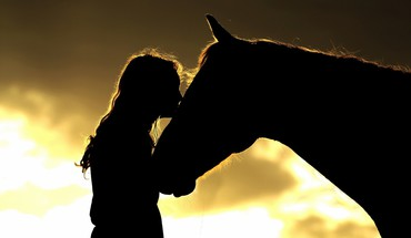 Horse and woman HD wallpaper