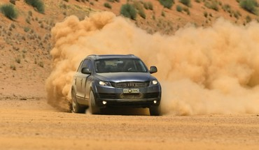 Cars audi dust q7 suv german drift HD wallpaper