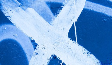 Abstract blue cross metal paint HD wallpaper
