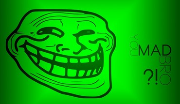 Internet funny green trollface HD wallpaper