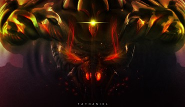 Monsters horns diablo darkness red eyes sparks iii HD wallpaper