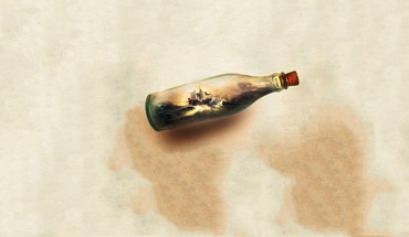 Bottled ship HD wallpaper
