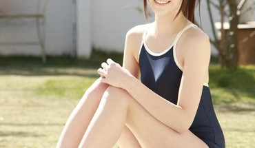 Japanese outdoors asians school swimsuits saki funaoka HD wallpaper