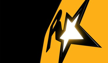 Black gold rockstar games logos HD wallpaper
