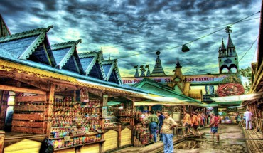 Hdr market place HD wallpaper