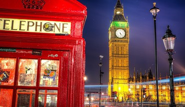 Wonderful london scene in lights HD wallpaper