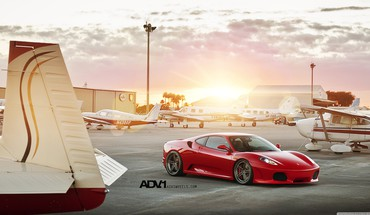 Cars ferrari red adv 1 adv1 wheels HD wallpaper