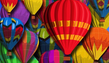 air chaud ballons multicolores Vecteurs  HD wallpaper